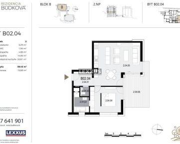 PREDAJ - 2-izbový byt v projekte Rezidencia Búdková, Staré Mesto