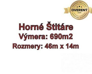 Horne Štitáre pozemok na výstavbu rodinného domu 690 m2