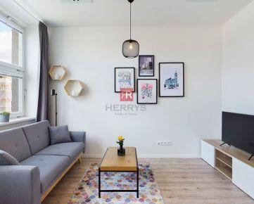 HERRYS, Prenájom moderného a nového 1 izbového bytu v novostavbe Bezručová Residence pri Modrom Kostolíku s 3D obhliadkou