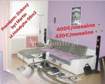 Prenájom: 2izbový prerobený a zariadený byt v Martine ul. Holubyho