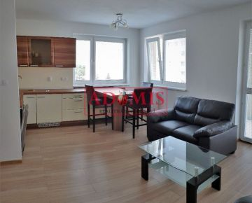 ADOMIS - prenájom FOR RENT 2-izbový zariadený byt v novostavbe, ulica Kysucká, Košice – Západ, Terasa.