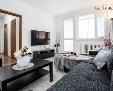 2i byt BA - Dúbravka - Cabanova, 56 m2, LÓGGIA, veľká pivnica, po kompl. rek - jedinečný, moderný, v tichu a zeleni
