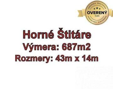 Horne Štitáre pozemok na výstavbu rodinného domu 687 m2