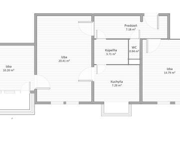 NA PREDAJ 3 izbový byt v centre Ružinova - prerobte si ho podľa vlastných predstáv