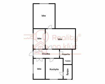 Na predaj starší rodinný dom s veľkým pozemkom v Nových Zámkoch