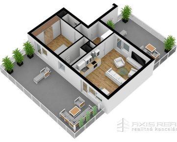 AXIS REAL:: 2-izbový byt (7C) NOVOSTAVBA, Poprad, Suchoňova ulica