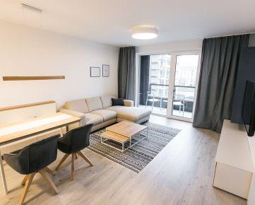 Ponúkame EXKLUZÍVNE na prenájom 2-izbový byt, 53,10 m2 + 9 m2 loggia s krásnym výhľadom do parku v novostavba Urban Residence.