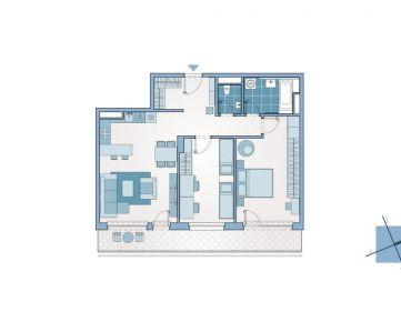Priestranný 3-izbový byt s terasou v novostavbe na ulici Mlynské Nivy, Ružinov