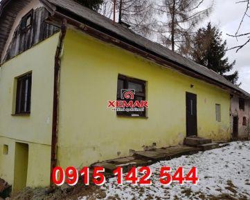 Na predaj menší rod. dom v obci Detvianska Huta- Znížená cena !!!