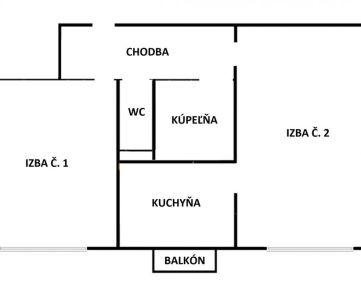 PREDANÉ!!!!!! Na predaj VEĽKÝ 2 izbový byt Hroncova, Košice - Sever