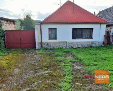 Predaj, dvojizbový vidiecky dom, Dobrá Voda, pozemok 13,46á