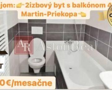Prenájom : 2 - izbový byt v Martine Priekope s Balkónom