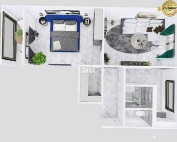 Vynikajúca lokalita: 2-izbový byt ul. Sokolovská, 53 m², loggia.