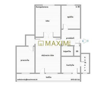 4- izbový byt na Kempelenovej ulici
