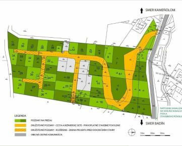 Predaj stavebných pozemkov Banská Bystrica - Badín