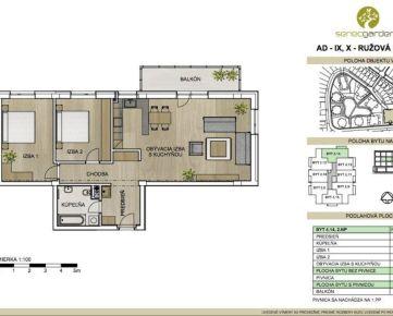 Trojizbový  byt v Senci