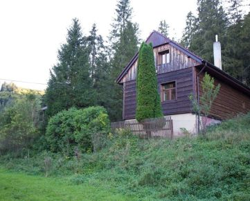Chalupa na okraji lesa neďaleko Hnilčíka, časť Bindt
