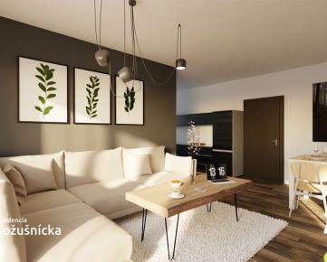 REZERVOVANÉ  | 3 izbový byt 73m2 + veľký balkón, 4np. - Rezidencia Kožušnícka, byt B27