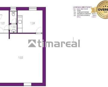 TIMA Real - Skolaudovaný obchodný priestor 51,72m2, Biely Kostol