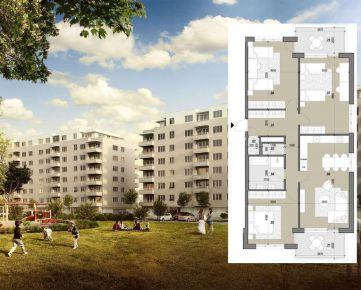 4 izbový byt (A311) – ZELENÉ VLČINCE - NOVOSTAVBA
