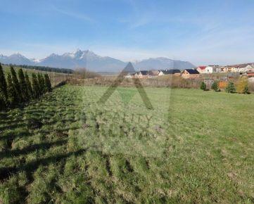 Pozemok 2600 m2 pod Vysokými Tatrami v obci Malý Slavkov