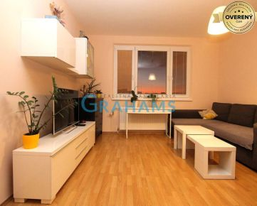 GRAHAMS-PREDAJ, priestranný 2 izbový byt, Bradáčova, Petržalka