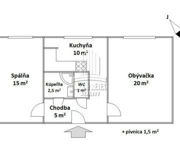 PREDAJ - 2 izbový byt na ulici Námestie Hraničiarov