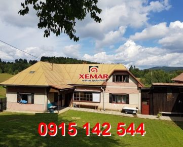 Na predaj rodinný dom s hospodárskou budovou a pozemkom v krajovej časti obce Látky