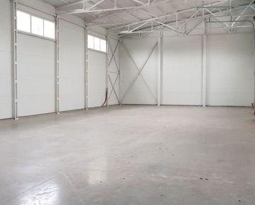 ID 2289  Prenájom: skladová hala 390 m2, novostavba.