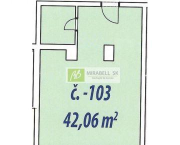 Nebytový priestor v štandarde v centre mesta - Gunduličova ul, 42 m2