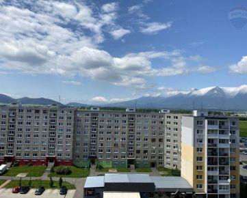 """""""REZERVOVANÉ"""" Predaj 3-izbový byt 75 m2, loggia v Poprade, ul. Podjavorinskej, 9.poschodie"""