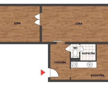 PREDAJ 2-izbového bytu, Hlohovec - Bezručová