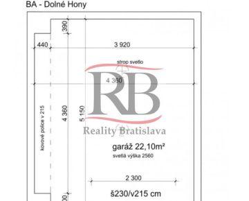 Garáž Bratislava- Dolné Hony