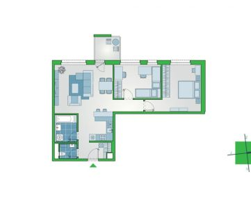 Príjemný 3-izbový byt s lodžiou a oddeleným WC. Projekt NUPPU, Ružinov (D1011)