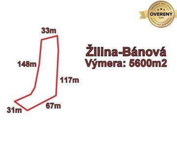Žilina - Bánová, pozemok 5600m2