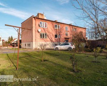 LEHNICE, 2-i byt, 57 m2 - ZÁHRADA 67 m2, garáž, PARKOVANIE, vlastný kotol, NÍZKE NÁKLADY, tehla
