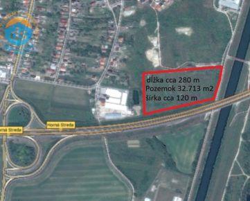 Na predaj priemyselný pozemok, 32.713 m2, Horná Streda.