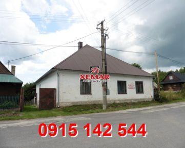 Na predaj rodinný dom v obci Šoltýska- EXKLUZÍVNE !!!