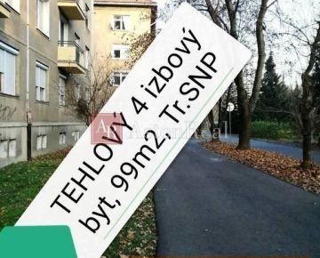 KRÁSNY TEHLOVÝ 4izbový byt , 99m2, BANSKÁ BYSTRICA - Trieda SNP