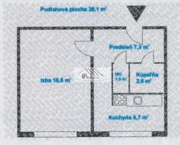 Predaj priestranného 1i bytu na Závadskej v Rači