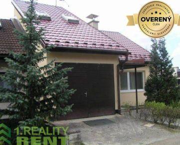 Prenájom : Veľký rodinný dom na Bôriku v Žiline s tromi garážami