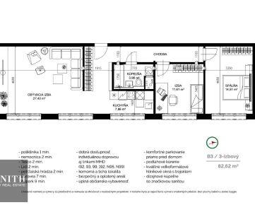3 izbový byt (B3) v projekte NOVANTA PETRŽALKA
