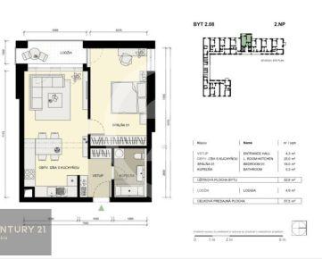 Predpredaj: 2 izbový byt v rezidencii Centrum