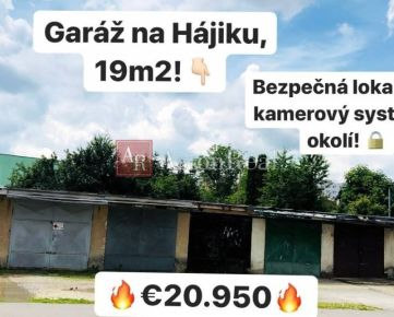 PREDAJ: Garáž, 19 m2, Hájik, Žilina