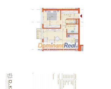 OMNIA – D.K3 - 2. izbový APARTMÁN o celkovej výmere 59,48 m2 s parkovacím státím