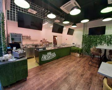 Obchodný priestor 57,20 m2 vhodný na stravovacie zariadenie na prenájom v objekte Bratislava Business Center I na Plynárenskej ulici