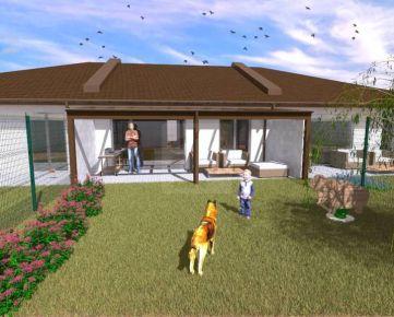 Direct Real - NOVINKA! Novostavba tehlového 4-izb. dombytu č. 2 so záhradou a parkovacími státiami v Dolnej Strede