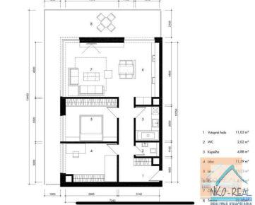 3 izb. byt, v novostavbe TEHELNÉ POLE, Bajkalská ul.