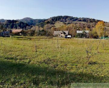 Jedinečný pozemok na chatu s krásnym výhľadom v obci Sklené, Turčianske Teplice