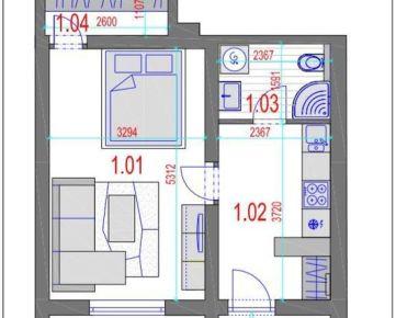 AMEXA REAL» ponúka na predaj 1izb apartmán - 52.988,-€